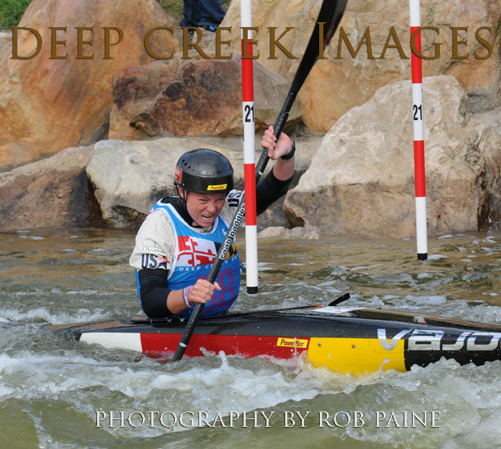 U.S. Olympic Team Member Ashley Nee is shown during Deep Creek 2014 at Deep Creek Lake.  Nee is scheduled to compete in the women's kayak single semifinals, Thursday afternoon, Aug. 11, at the Summer Olympics  in Rio. Photo By Rob Paine, Deep Creek Images, Copyright 2014